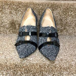 Manolo Blahnik tweed booties